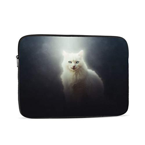 Bolsa de manga para ordenador portátil Cat Curious Art Tablet Maletín Ultraportable Lona protectora para