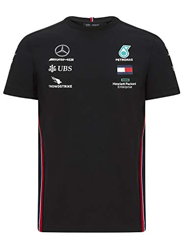Mercedes メルセデス AMG ペトロナス F1チーム Tシャツ ブラック 2020 (S:着丈67cm身幅49cm)