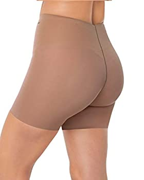 Leonisa Women s Invisible Padded Booty Lifter Enhancer Shaper Short,Large,Brown