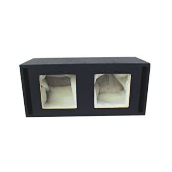 Absolute USA DKS10 Dual 10-Inch MDF Square-Hole Vented Enclosure Box for Kicker L7 L5 Solo-Baric Subwoofers