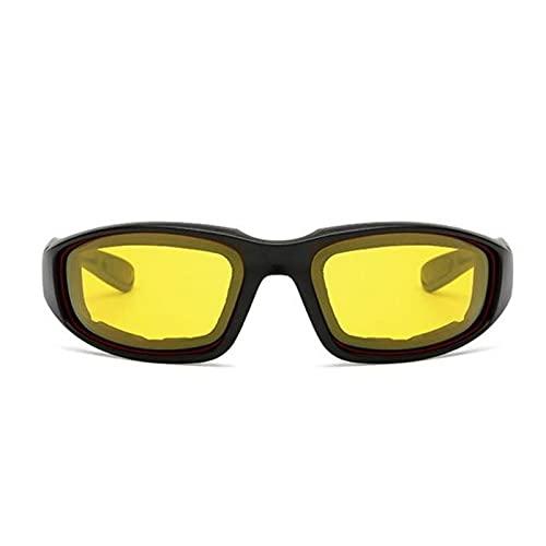 JYTSSH Gafas de montar al aire libre Gafas de esquí CS Táctica Gafas de sol Coche Moto Motocicleta Deportes Esponja A prueba de viento Visión nocturna Gafas