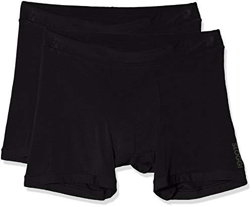 Sloggi Herren GO Allround Short Boxershorts, Schwarz (Black 0004), Medium (Herstellergröße: One) (2er Pack)