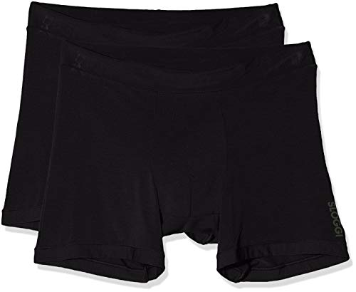 Sloggi Herren GO Allround Short Boxershorts, Schwarz (Black 0004), Medium (Herstellergröße: One) (2er Pack)