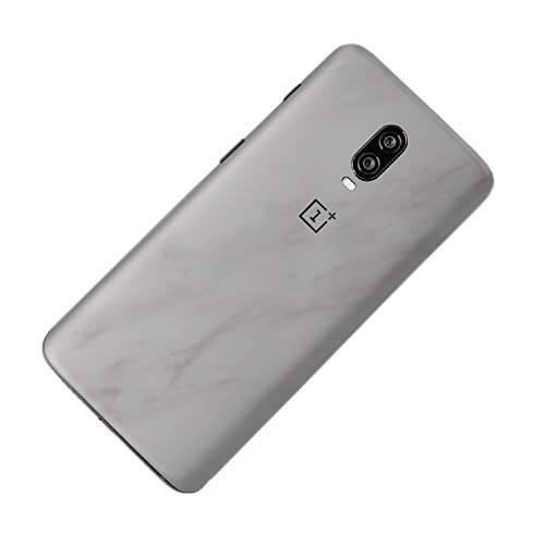7 Layer Skinz Custom Skin Wrap Compatible with OnePlus 6T (White Marble)