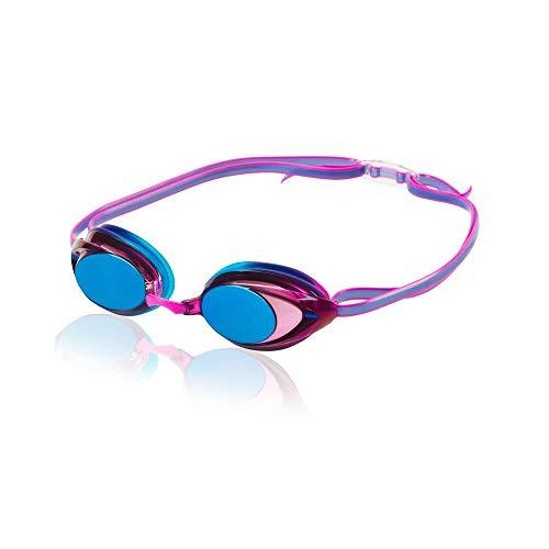 Speedo Women's Swim Goggles Mirrored Vanquisher 2.0 Purple Dream, One Size