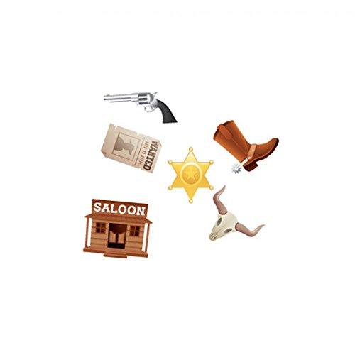 Chaks 83006 - Sachet 24 confettis de table Western