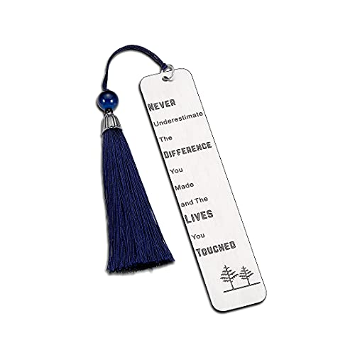Inspirational Gift Bookmark for Her Him Appreciation Retirement Gifts for Teachers Coworkers Boss Friends Birthday Thank You Present to Son Daughter from Dad Mom Keyring Jewelry for Women Men