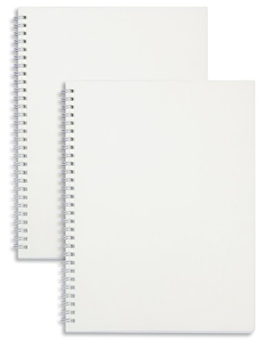 Miliko Transparent Hardcover B5 Blank Wirebound/Spiral Notebook/Journal Set-2 Per Pack, 7.1 Inches x 10 Inches(Blank)