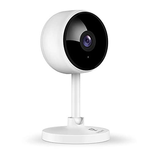 Cámara de vigilancia interior Littlelf 1080P, cámara IP WiFi con 2 vías de audio, monitor de vigilabebés, detección de movimiento, cámara Alexa para mascotas con visión nocturna