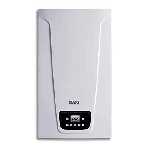Caldera estanca mixta instantánea, condensación, potencia térmica 20-26 kW, serie Platinum Compact 26/26 F Eco Black Edition, para ACS y calefacción, 30 x 40 x 70 centímetros (Referencia: 7725724)