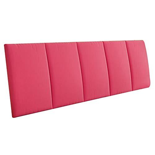 HAIPENG Rückenlehne Bett Kissen Ohne Kopfteil Flanell Nachttisch Kopfstütze Gepolstert Lendenwirbelsäule Waschbar, 7 Farben (Farbe : Rose rot, größe : 200x5x55cm)