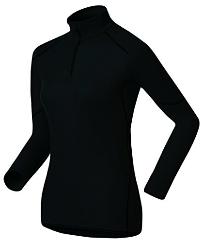 Odlo BL Top Turtle Neck L/S Half Zip Active X-Warm Haut Femme, Black, FR (Taille Fabricant : XL)