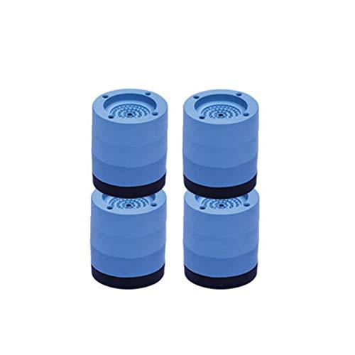 Almohadillas antideslizantes para lavadora, soporte de lavadora, almohadillas de goma, cancelación de golpes y ruido, para lavadora y secadora (4 unidades)