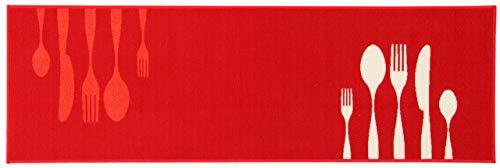 ABC La Cucina Dinner Tapis 57 x 200 cm Rouge