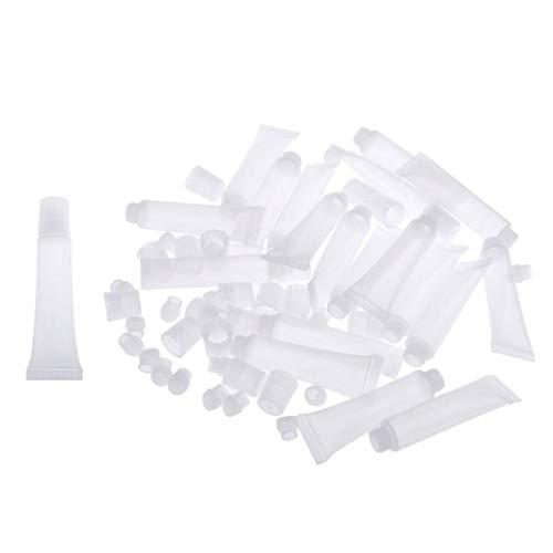 MagiDeal 20 Stück 8 ml Leere Tuben Klar Kosmetik Behälter Nachfüllbar Kunststoff Tube für DIY Lip Gloss, Augencreme, Öl, usw.