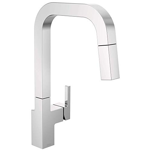 Delta Faucet Junction Chrome Kitchen Faucet with Pull Down Sprayer, Kitchen Sink Faucet, Faucets for Kitchen Sinks, Single-Handle, Magnetic Docking Spray Head, Chrome 19825LF