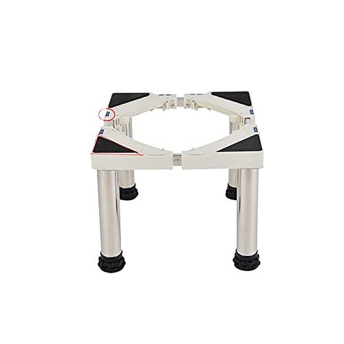 YiYYPT Base Lavadora Soporte Secadora Ajustable con 4 Pies de Acero Inoxidable Pedestal frigoríficos Ancho 38-54cm Longitud 30-45cm lavavajillas Universal Base Carga 150Kg (28-31cm)