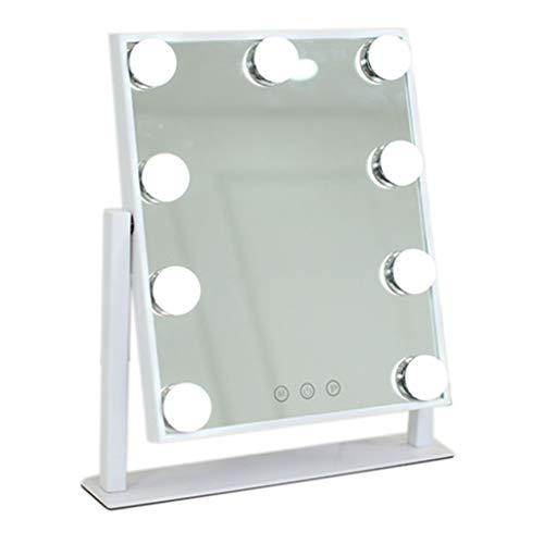 Miroirs de poche Miroir de Maquillage-LED Miroir de Maquillage avec la lumière dortoir de Bureau Vinaigrette Charge Fille étudiante beauté miroirs de Bureau avec lumière Haute définition Lampe de maq