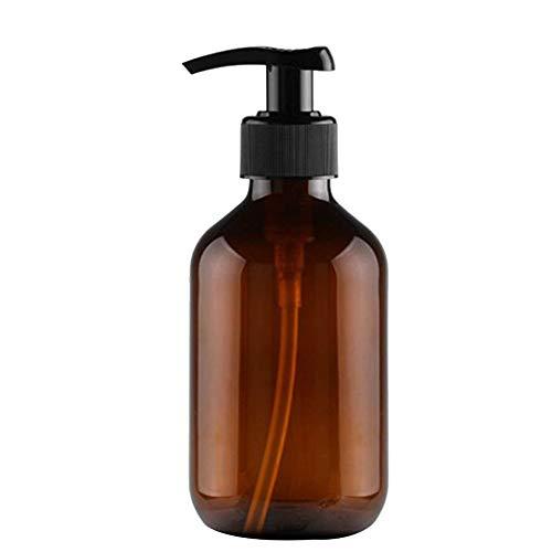 Qinlee Squeeze Emulsionsflasche Handlotion Duschgel Toner Shampoo Spender Flasche Perfekt für Home Reisen (Braun 500ML)