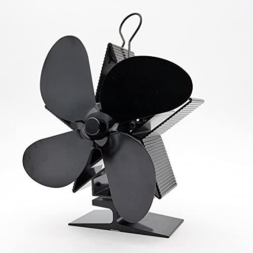 Tree-it-Life Elettrodomestici Potenza Termica Ventilatore per Camino Ventilatore per Stufa a Legna Alimentato a Calore per Legna bruciatore a Legna Camino Ventilatori a Quattro Foglie ecologici