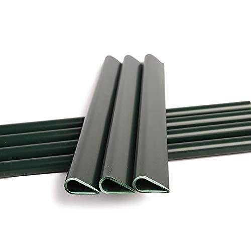 Naimorui 30 Stück Befestigungsclips Klemmschienen für PVC Sichtschutzfolie Sichtschutzstreifen - 30 Stück/Pack, Grün