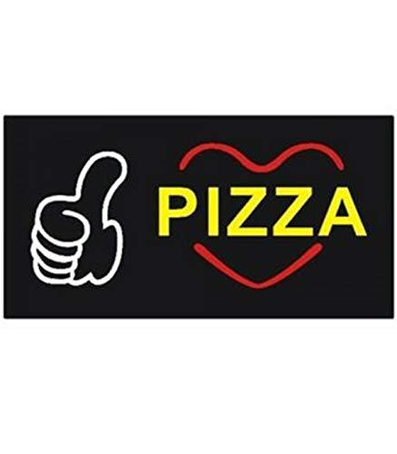 Trade Shop - Logo INSEGNA Luminosa per Bar Ristorante Pizzeria A LED Scritta Pizza VETRINA - 017954