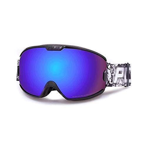 WCJ Skibrille, Skifahren Snowboardbrillen Rahmenlos mit über Gläsern UV-Schutz Wide View Männer Frauen Erwachsener Teenager (Color : B)
