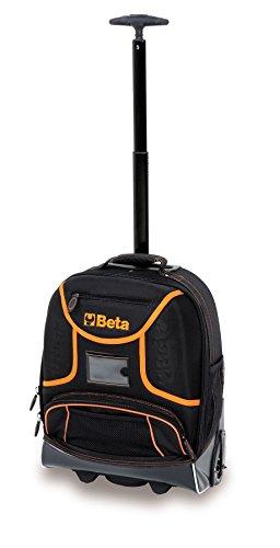Beta Tools C6T Rugzak Trolley voor Tool Opslag Back Pack Ruck Zak Case. Telescopische handgreep voor eenvoudig transport, Ingebouwde wieltjes met stofdichte afdekking voor gebruik als rugzak en 2 beweegbare gereedschapspanelen
