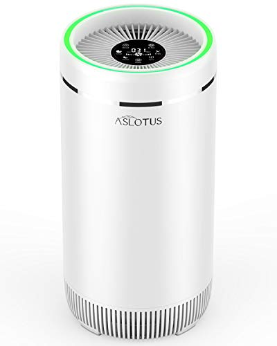 ASLOTUS Air Purifier for Home - True HEPA Filter 3 Stage, Auto Mode & 12h Timer, Air Cleaner for Bedroom, Office, Large Room 409ft², Remove 99.7% Pollen, Smoke, Pet Dander, Dust - KJ320