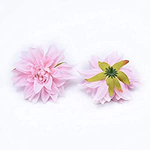 Artificial and Dried Flower 10 Pieces Silk Gerbera Dahlia Wedding Decorative Flowers Wall Home Decoration Accessories a Cap Artificial Flowers