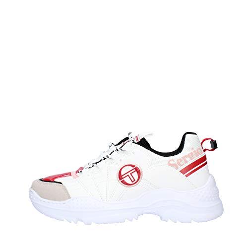 scarpe sergio tacchini donna Sergio Tacchini Scarpe Sneakers da Donna DISTRUCTION Mix in Pelle Bianca STW928200-04