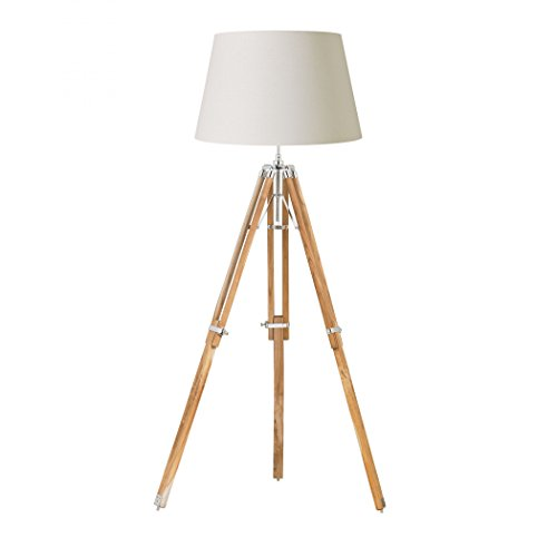 1 Light Tripod Floor Lamp Base Finish: Natural By Nauticalmart