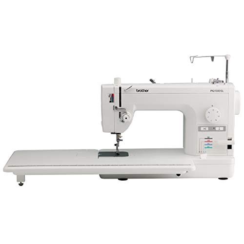 Brother Quilting Machine, PQ1500SL Up to 1,500 Stitches Per Minute, Wide Table, 7 Included Sewing Feet