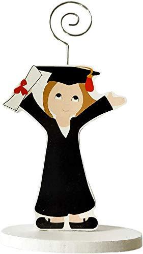 DISOK - Lote 20 Pinzas Portafotos Madera GRADUACIÓN NIÑA. Detalles de graduación para regalar. Regalos para la graduación de los niñas.