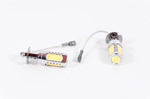 Seitronic® 7,5Watt High Power Set Faros antiniebla SMD LED Xenon H3, efecto de luz diurna