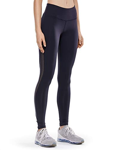 CRZ YOGA Donna Leggings Sportivi Calzamaglie Maglia Eleganti Pantaloni Yoga Fitness -71cm Blu Navy - R426 44