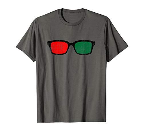 3D Red Green glasses Vision Therapy T-Shirt