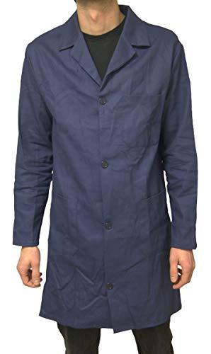 Schuerzenfabrik Berufsmantel Herren Größe 46-68 Arbeitskittel Kittel Mantel dunkelblau, Größe:54, Modell:Modell 1