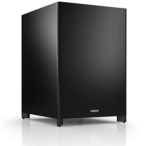 Nubert nuSub XW-1200 Funk-Subwoofer Schwarz   Appsteuerung mit Einmessfunktion   High End Woofer für 5.1 Sets   Heimkino Aktivsubwoofer mit Downfire-Technik   LFE-Box mit 420 Watt   Bass unter 20 Hz
