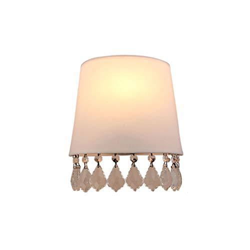 L&J&F Tela de Cristal Claro de la Pared E14 Dormitorio Sala de Estar Lámpara de Pared de la habitación de los niños