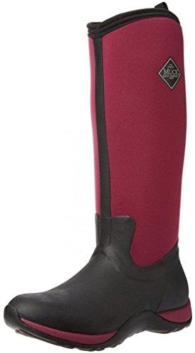 Muck Boots Arctic Adventure, Bottes montantes au genou à doublure chaude femme, Noir (black/maroon), 39.5