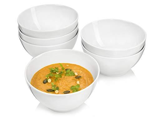 Sänger Suppenschalenset Sunfort 6 teilig | Füllmenge 900 ml | Klassisches Design und schlichte Form | Vielseitig Einsetzbar für Salat, Snacks