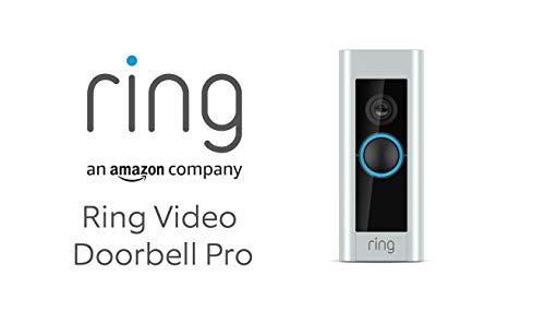 Ring Video Doorbell Pro | Sonnette Vidéo avec carillon et transformateur inclus, HD 1080p, système audio bidirectionnel, Wi-Fi et détection de mouvements