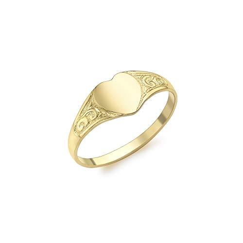 Carissima Gold Anillo de Niña con oro amarillo 9K (375) - Tamaño 4