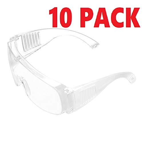 LBB-Parts 10 Pack Fully Sealed Safety Goggles Glasses Eye Protection Work Lab Dustproof Anti-fog
