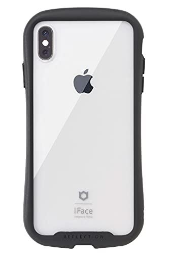 iFace Reflection iPhone XS/X ケース クリア 強化ガラス [ブラック]