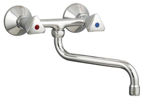 Sanitop-Wingenroth 06384 5 Zweigriffmischer Standard für Spüle, Küchenspüle | Wandhängend