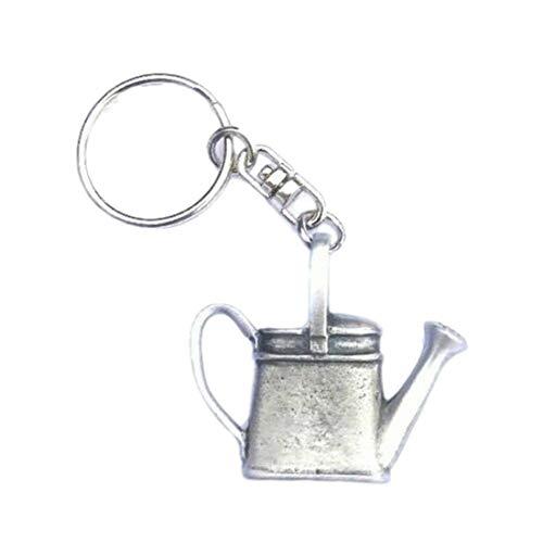 Preisvergleich Produktbild Gießkanne Zinn handgefertigt Schlüsselanhänger + badge + Organza Tasche