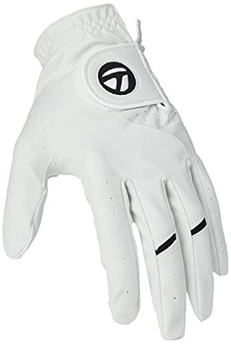 TaylorMade Men's Stratus Tech Golf Glove (2 Pack), White, Medium/Larg