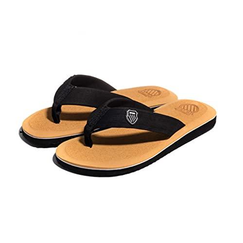 LERDBT Zapatillas unisex para mujer y niña, para verano, playa, para piscina, con cómodo soporte de arco y puntera abierta (amarillo)